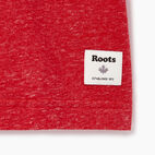 Roots-Men Graphic T-shirts-Mens Roots Cabin Ringer T-shirt-Sage Red Mix-C