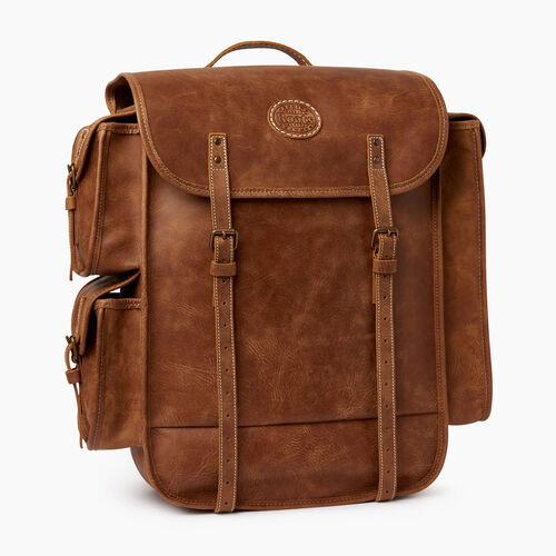 Roots-Leather  Handcrafted By Us Categories-Omers Backpack-Natural-A