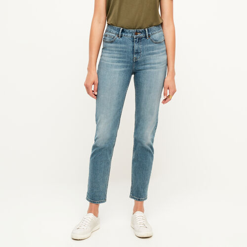 Roots-Women Bottoms-Jensen Straight Leg Jean-Med Denim Blue-A
