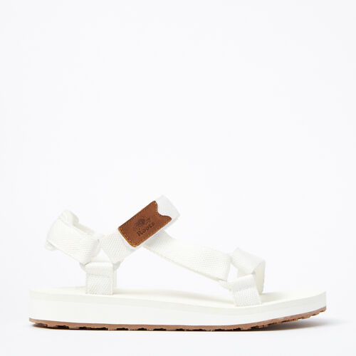Roots-Sale Footwear-Womens Tofino Sandal Web-White-A