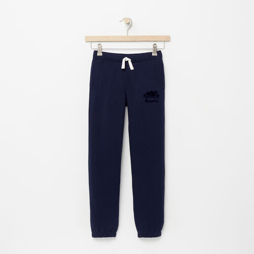 Roots-Kids Bottoms-Girls Original Sweatpant-Navy Blazer-A