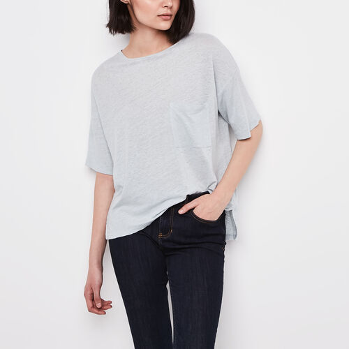 Roots-New For April Layers For Every Season-Saratoga Top-Chambray Blue-A
