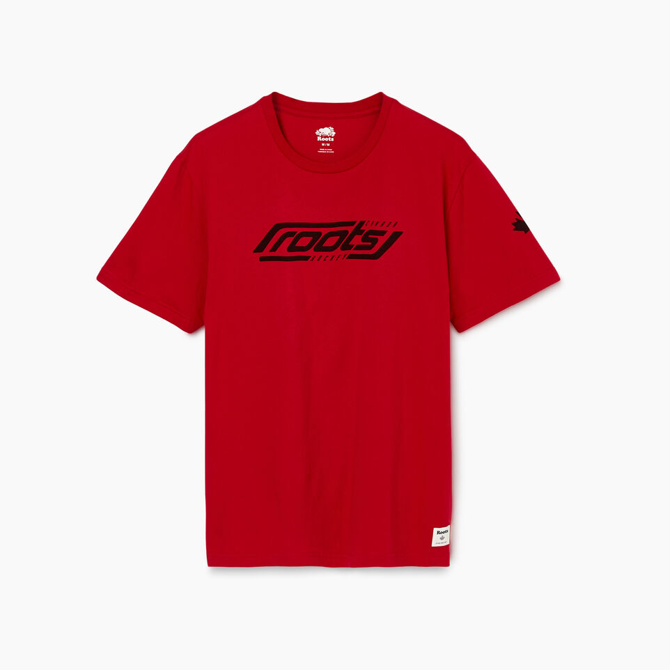 Roots-Men New Arrivals-Mens Roots Hockey T-shirt-Cabin Red-A