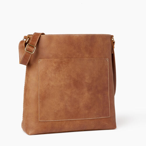 Roots-Leather  Handcrafted By Us Handbags-Rideau Bag-Natural-A