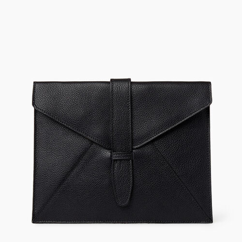 Roots-Leather Tech & Travel-Tablet Sleeve Cervino-Black-A