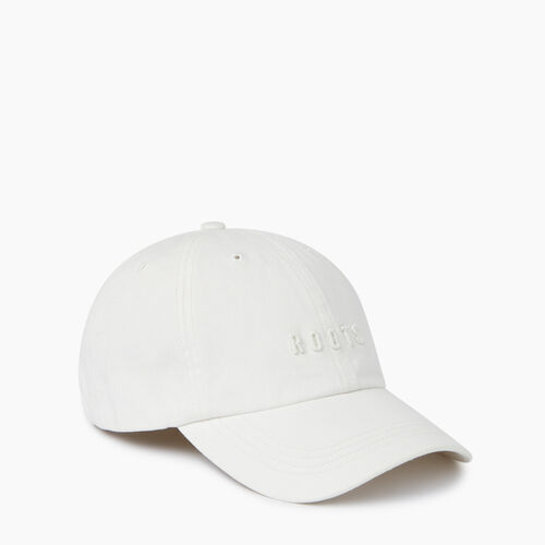 Roots-Women Accessories-Roots Classic Baseball Cap-White-A