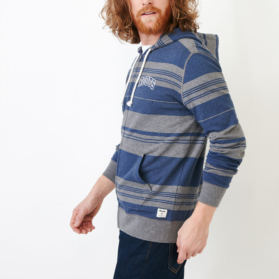 Roots-undefined-Rugby Stripe Zip Hoody-undefined-C