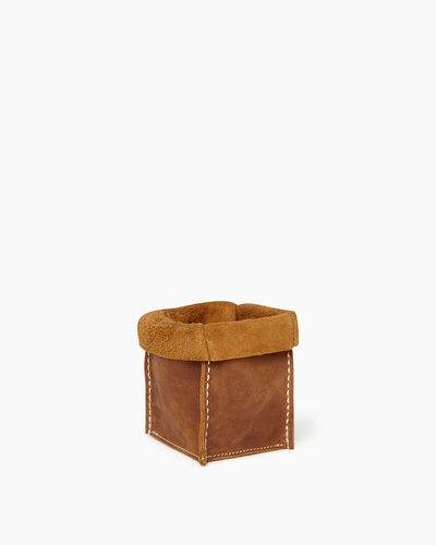 Roots-Men Leather Accessories-Small Rollover Basket Tribe-Natural-A