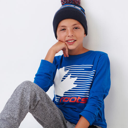Roots-Clearance Kids-Boys Roots Speed T-shirt-Olympus Blue-A