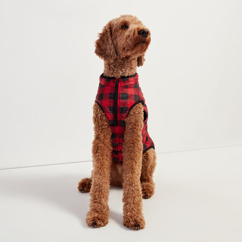 Roots-New For November Roots X Canada Pooch®-Pooch Park Plaid Puffer Size 24-Red-A