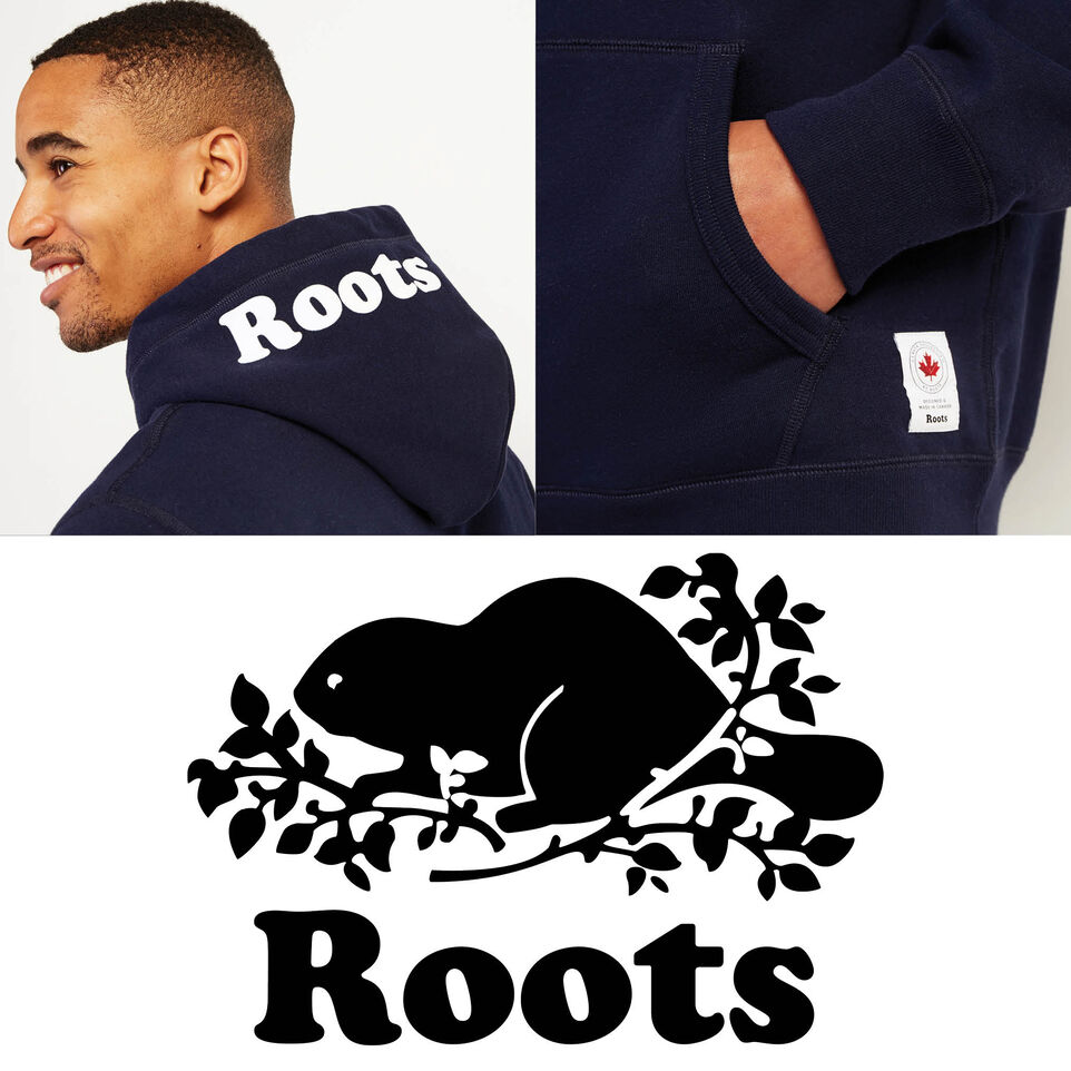 Roots-New For July Men-Mens Cooper Canada Hoody-Navy Blazer-F
