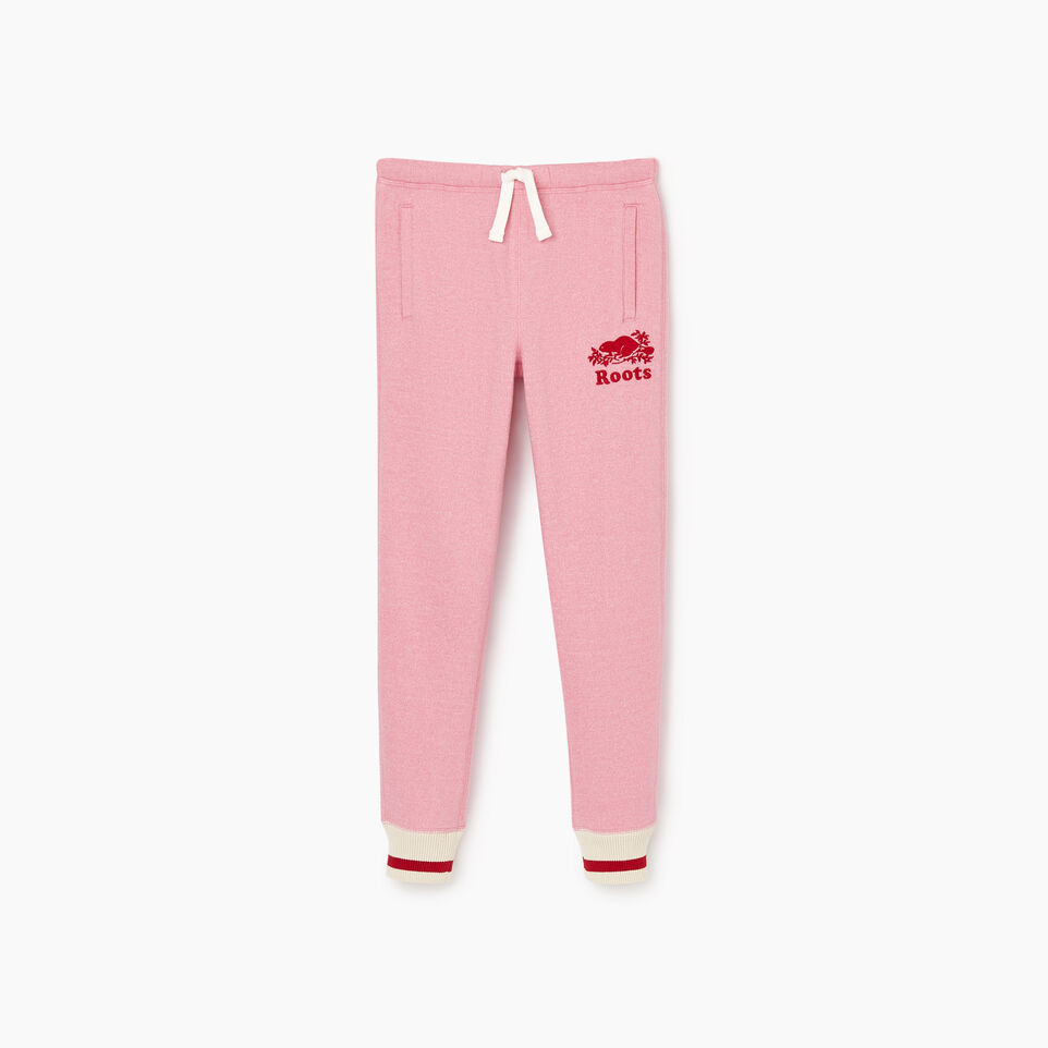 Roots-New For November Kids-Girls Roots Cabin Cozy Sweatpant-Cashmere Rose Pepper-A