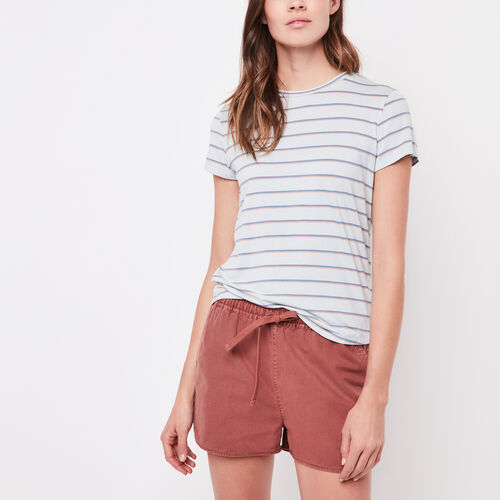 Roots-New For April Women-Georgian Stripe Top-Chambray Blue-A