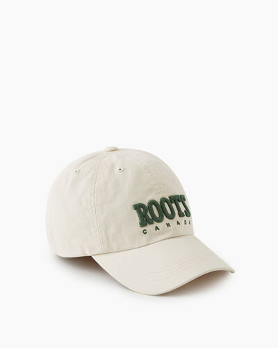 Roots-New For This Month Roots Retro-Retro Baseball Cap-Birch White-A