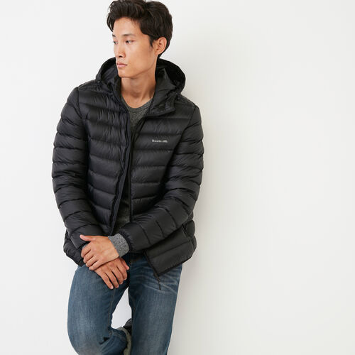 Roots-Men Our Favourite New Arrivals-Roots Packable Down Jacket-Black-A
