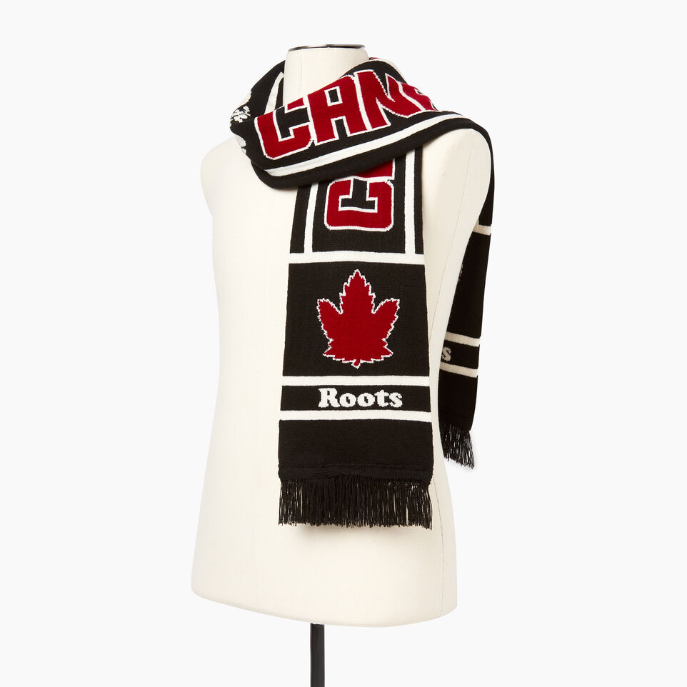Roots-Women Categories-Roots Canada Scarf-Black-C
