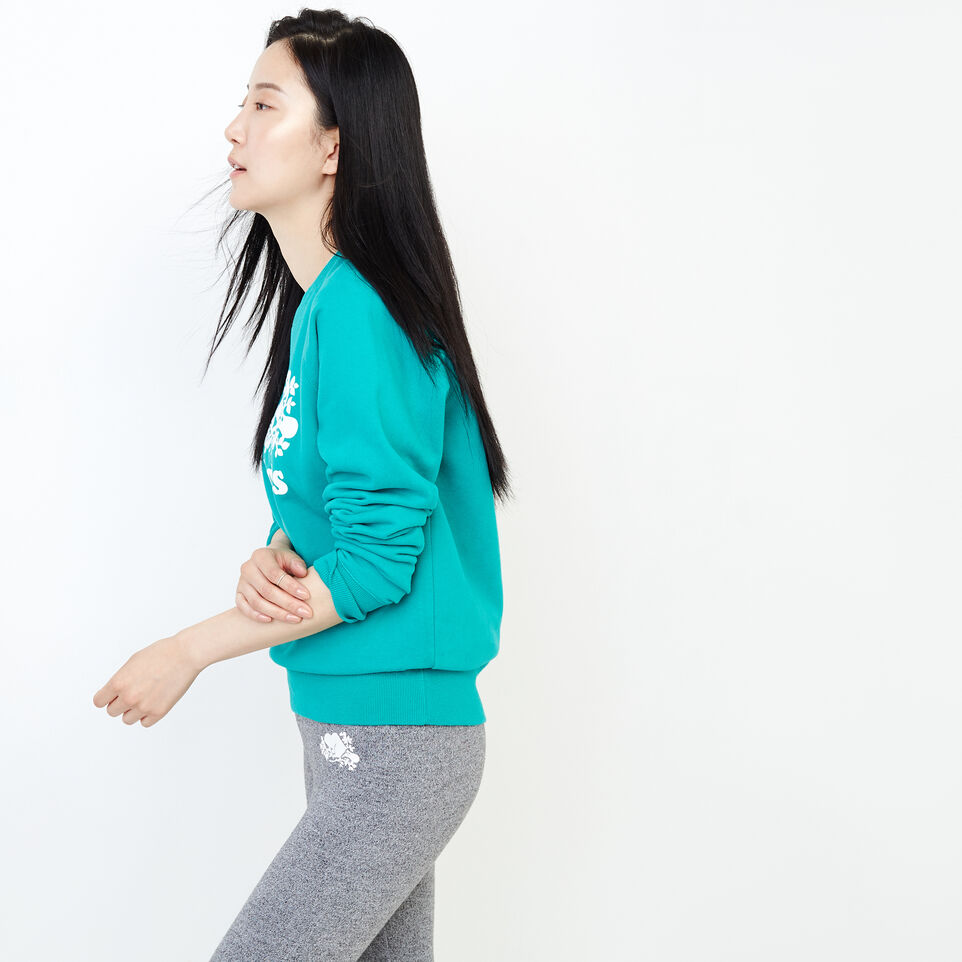 Roots-Women Our Favourite New Arrivals-Original Crew Sweatshirt-Dynasty Turquoise-C