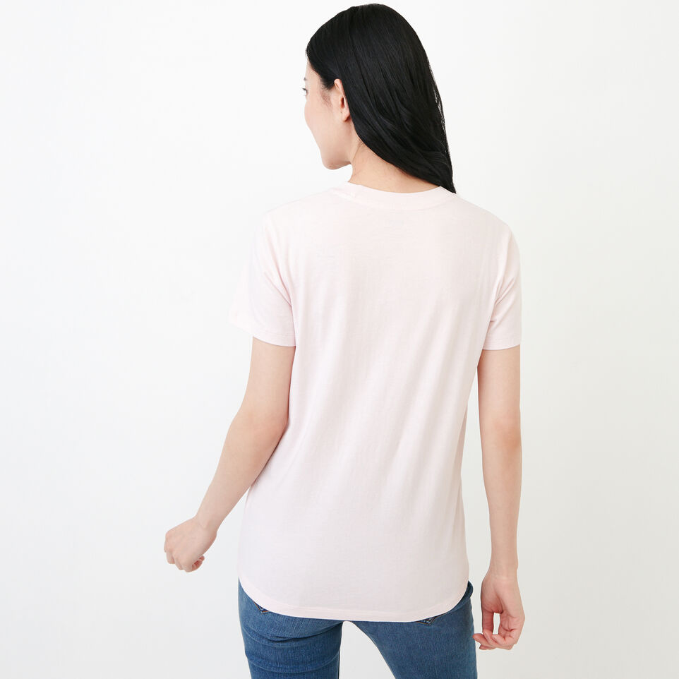 Roots-Women Clothing-Essential T-shirt-Cradle Pink-D