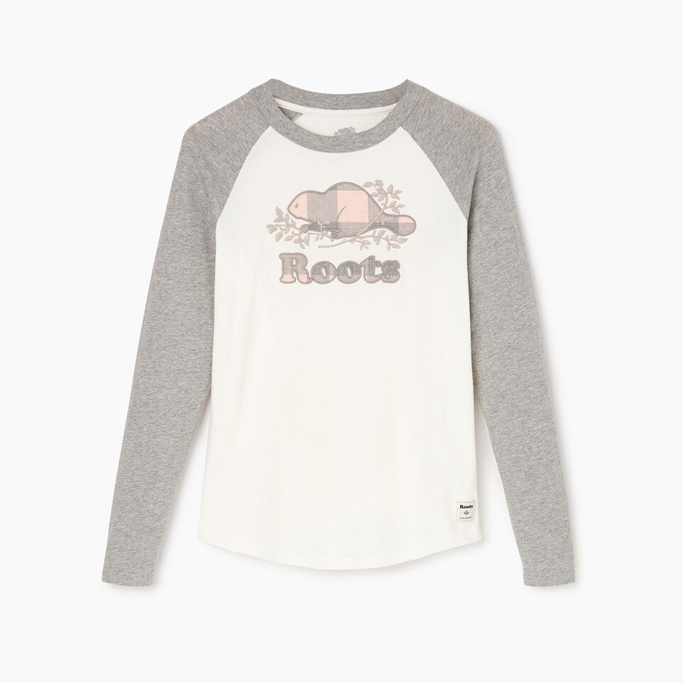 Roots-New For December Today Only: 40% Off Park Plaid Collection-Womens Margaree Long Sleeve T-shirt-Grey Mix-A