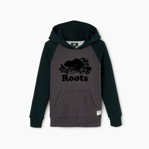 Roots-Kids Sweats-Boys Original Kanga Hoody-Varsity Green-A