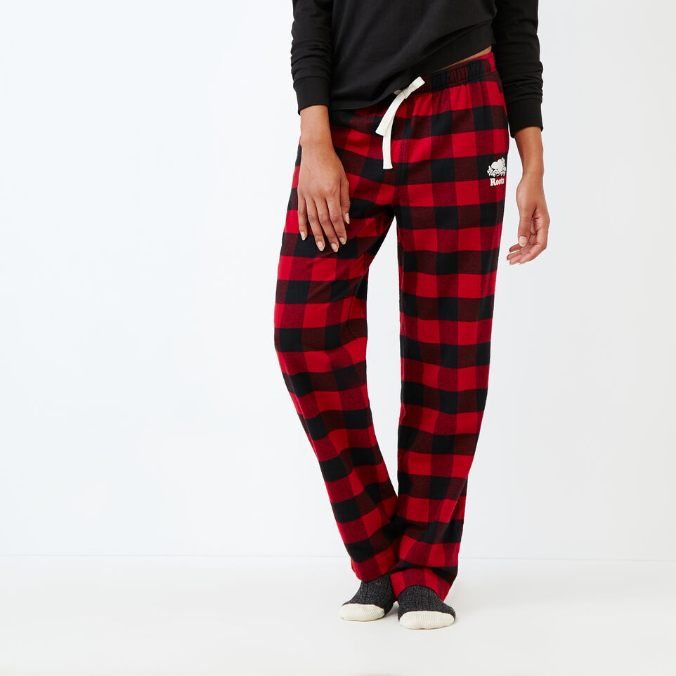 Roots-New For December Today Only: 40% Off Park Plaid Collection-Inglenook Lounge Pant-Lodge Red-A