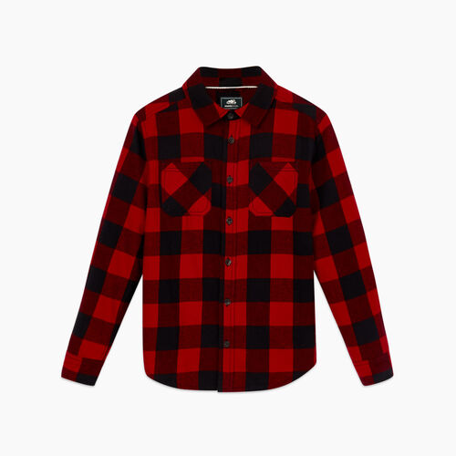Roots-Kids Boys-Boys Park Plaid Flannel Shirt-Cabin Red-A