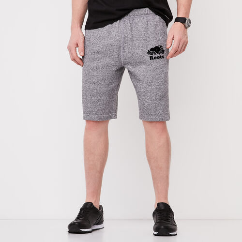 Roots-Men Shorts-Original Terry Short-Salt & Pepper-A