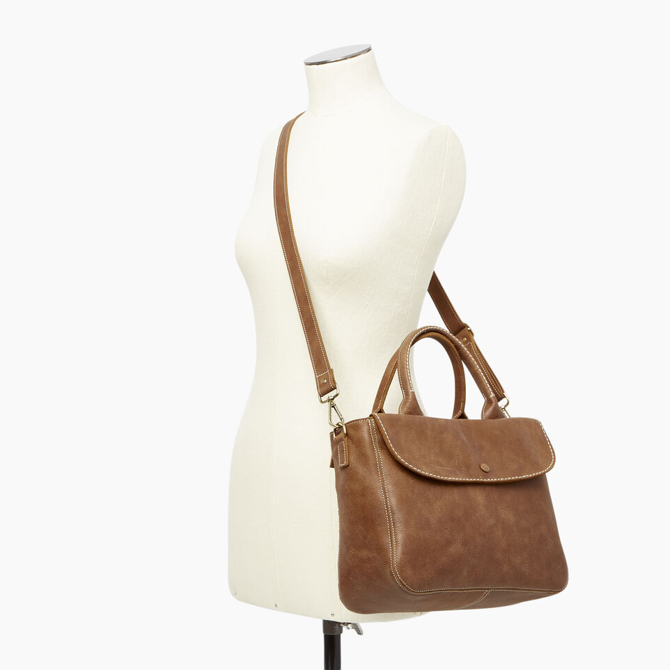 Roots-Leather Our Favourite New Arrivals-Riverdale Tote-Natural-B