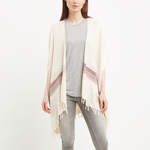 Roots-Women Accessories-Sandrine Kimono-Fog-A