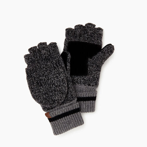 Roots-Women Categories-Womens Roots Cabin Flip Mitt-Black Mix-A