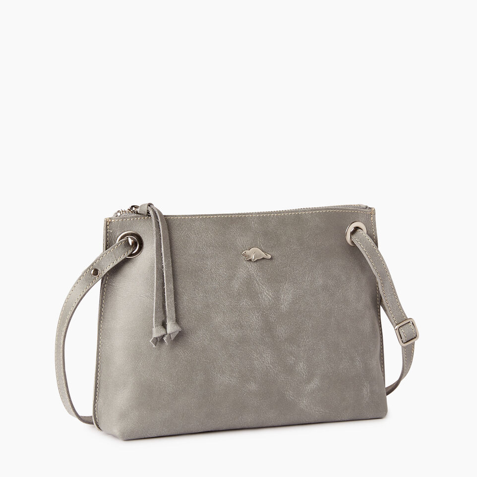 Roots-Leather  Handcrafted By Us Collections-Edie Bag-Quartz-A