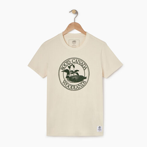 Roots-New For April Heather Cooper Collection-Womens Cooper Loon T-shirt-Natural-A