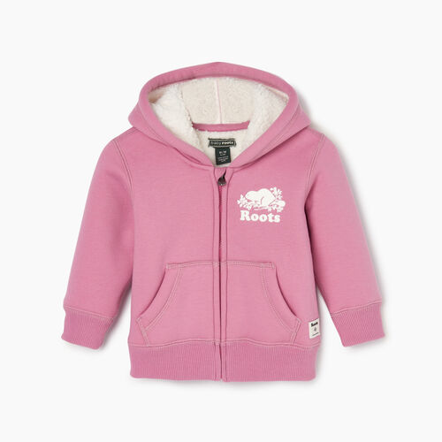 Roots-Sale Kids-Baby Sherpa Lined Full Zip Hoody-Mauve Orchid-A