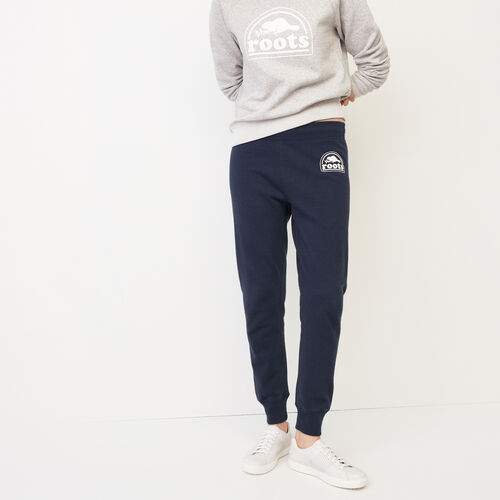 Roots-Women Bottoms-Roots Vault Fleece Sweatpant-Navy Blazer-A