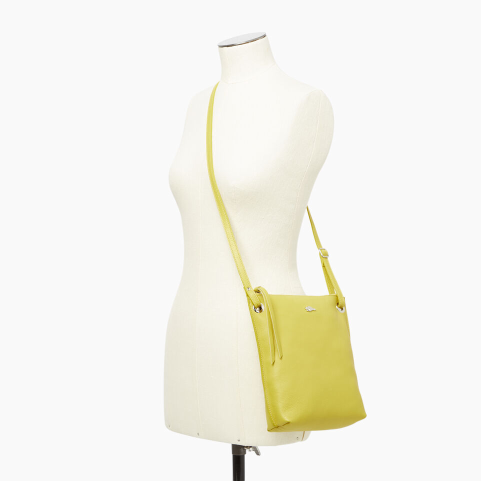 Roots-Leather  Handcrafted By Us Categories-Festival Bag-Yellow-B