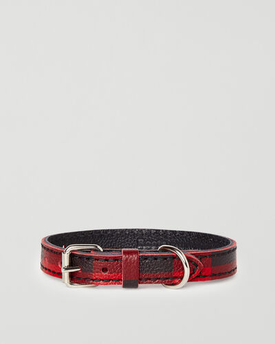 Roots-New For This Month Dog Accessories-Extra Small Leather Dog Collar-Cabin Red-A
