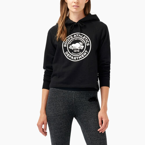 Roots-Winter Sale Women-Roots Department Cropped Hoody-Black-A
