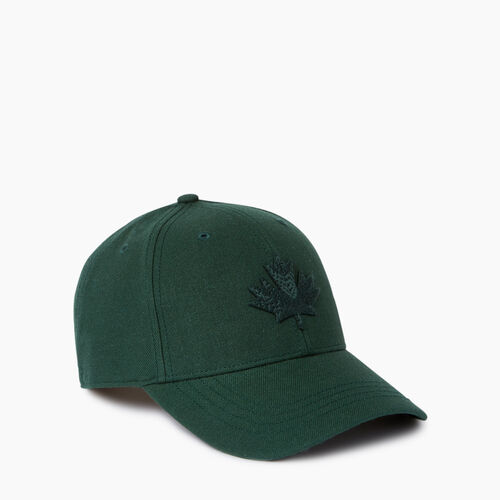 Roots-Men Our Favourite New Arrivals-Modern Leaf Baseball Cap-Park Green-A