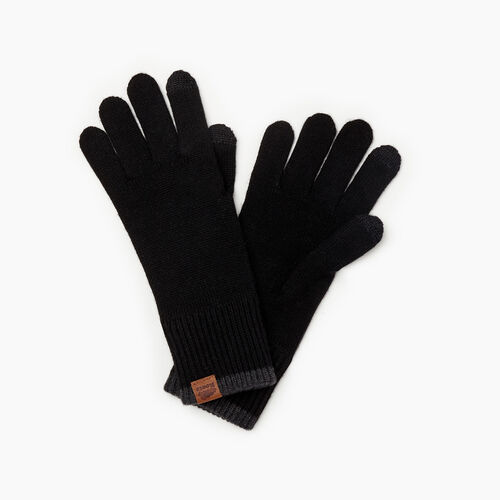Roots-New For November Journey Collection-Mens Journey Texting Glove-Black-A