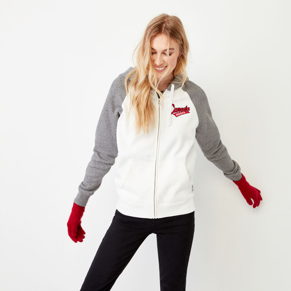 Roots-Women Our Favourite New Arrivals-Canada Full Zip Hoody-Cloudy White-C