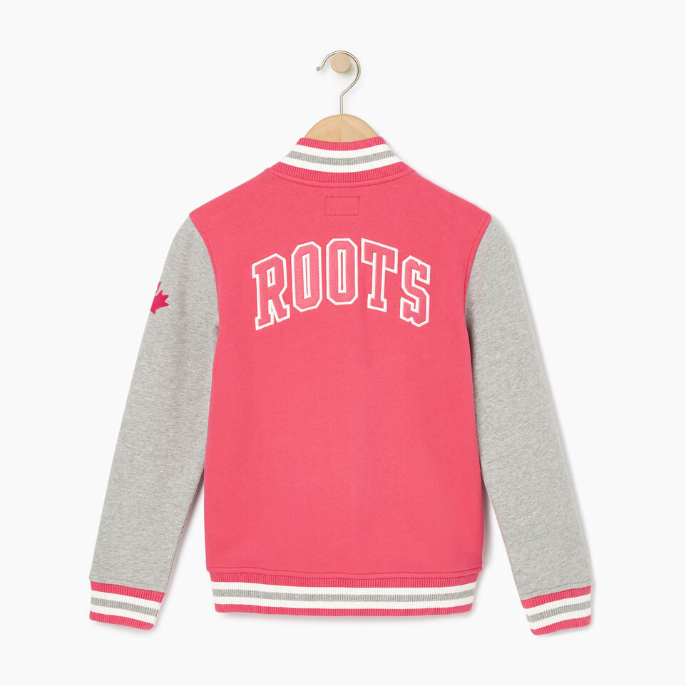 Roots-Kids Our Favourite New Arrivals-Girls 2.0 Awards Jacket-Pink Flambé-C