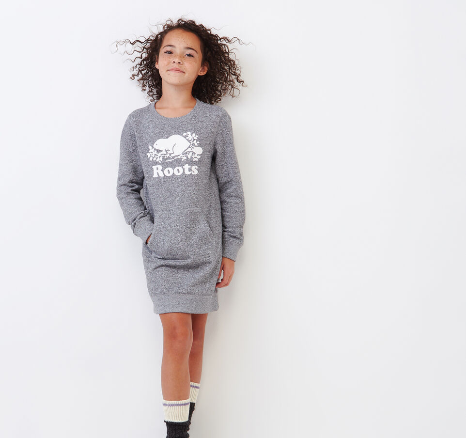 Roots-Kids Our Favourite New Arrivals-Girls Cooper Beaver Dress-Salt & Pepper-A