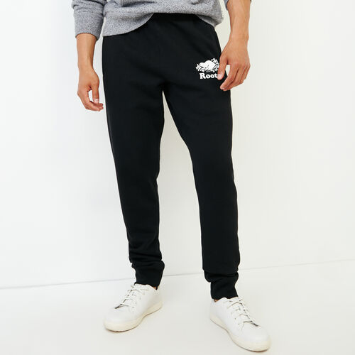Roots-Men Sweats-Park Slim Sweatpant-Black-A
