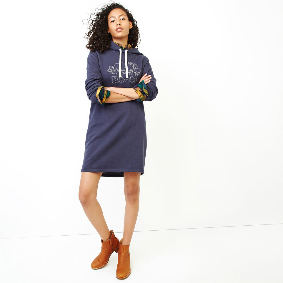 Roots-Women Our Favourite New Arrivals-Red Deer Dress-Graphite Mix-B