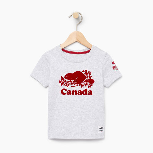 Roots-Kids Tops-Toddler Canada T-shirt-Snowy Ice Mix-A
