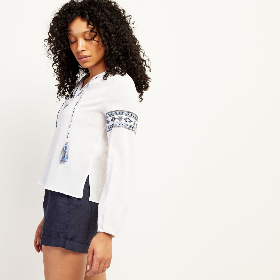 Roots-undefined-Rimby Embroidered Peasant Top-undefined-C