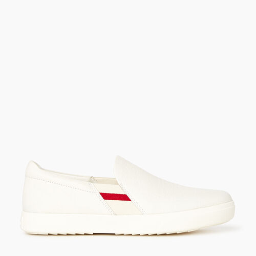 Roots-Footwear Men's Footwear-Mens Annex Cabin Slip On-White-A