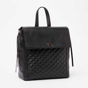 Roots-Leather Backpacks-Bella Pack Quilted Nappa/Box-Black-A