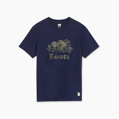 Roots-Men New Arrivals-Mens Cooper Woodlands T-shirt-Navy Blazer Mix-A