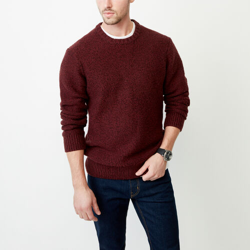 Roots-Men Our Favourite New Arrivals-Snowy Fox Crew Sweater-Crimson Polar Fox-A